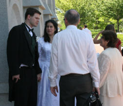 wedding photo - informal - soon after the sealing in the Salt Lake Temple